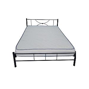 Κρεβάτι μεταλλικό μονό Lindos  με στρώμα 90x200 - Ελληνικής κατασκευής