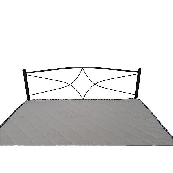 Κρεβάτι μεταλλικό μονό Rhodes με στρώμα 90x200 - Ελληνικής κατασκευής